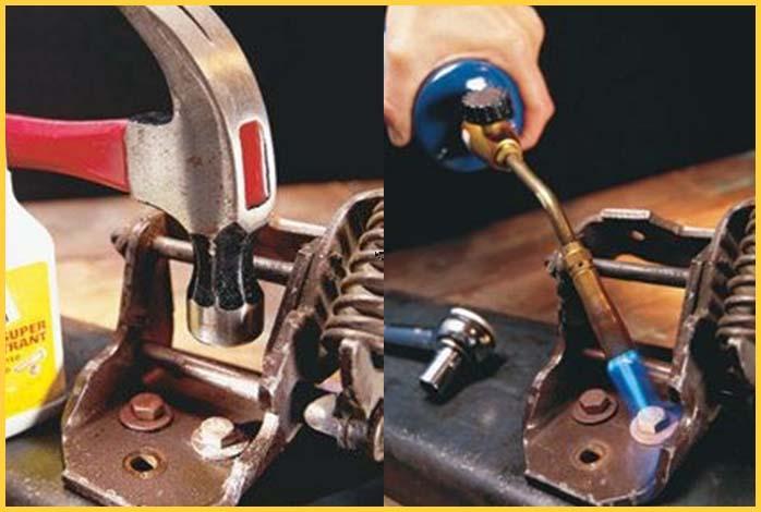 بازکردن پیچ های قفل شده